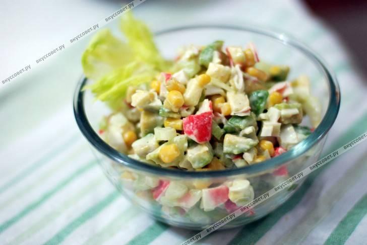 Салат с крабовым мясом №2