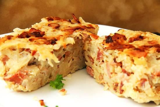 Кугелис - картофельный пудинг