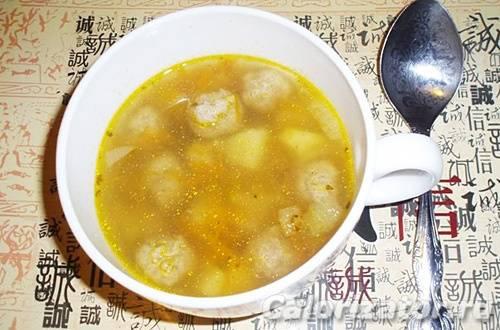 Суп картофельный с фрикадельками как в детском саду