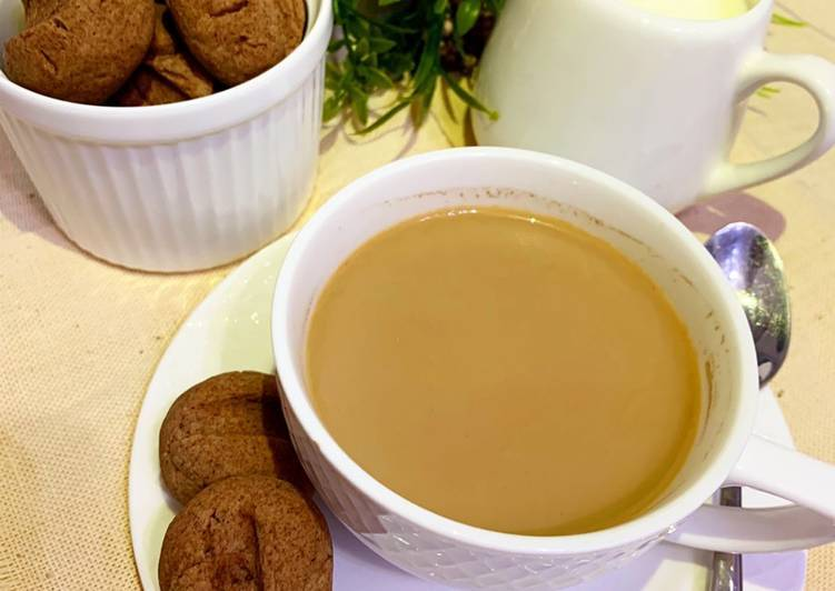 Интересные печеньки с чёрным чаем