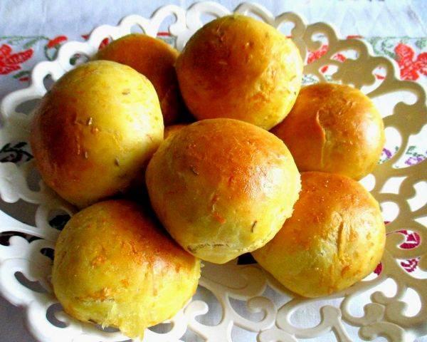 Постные булочки с яблоком и лимоном