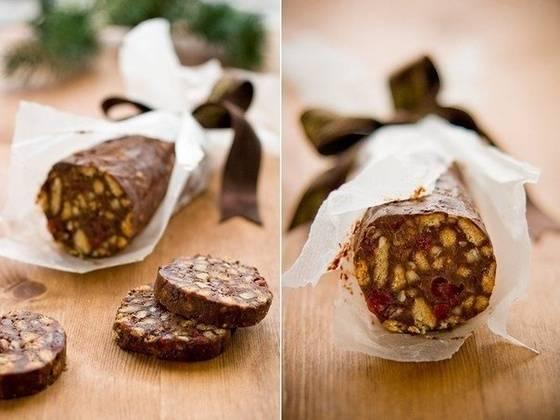 Шоколадная колбаска нашего детства