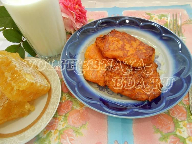 Тыквенные оладьи с сырным припeком