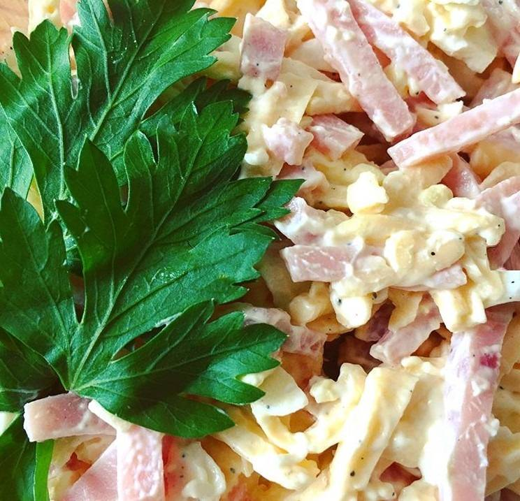 Трио - простой и вкусный солидный салат за 5 минут