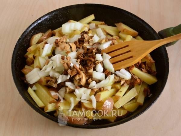 Картошка, запеченная с белыми грибами