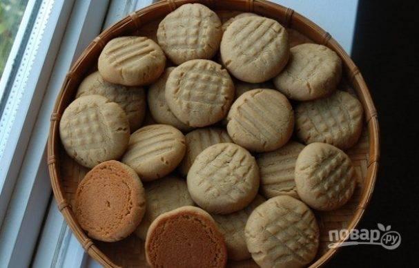 Печенье на арахисовой пасте