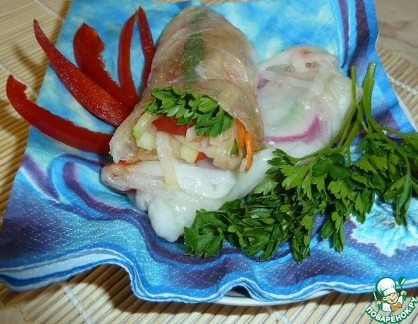 Сладкие спринг роллы: рецепт с рисовой бумагой