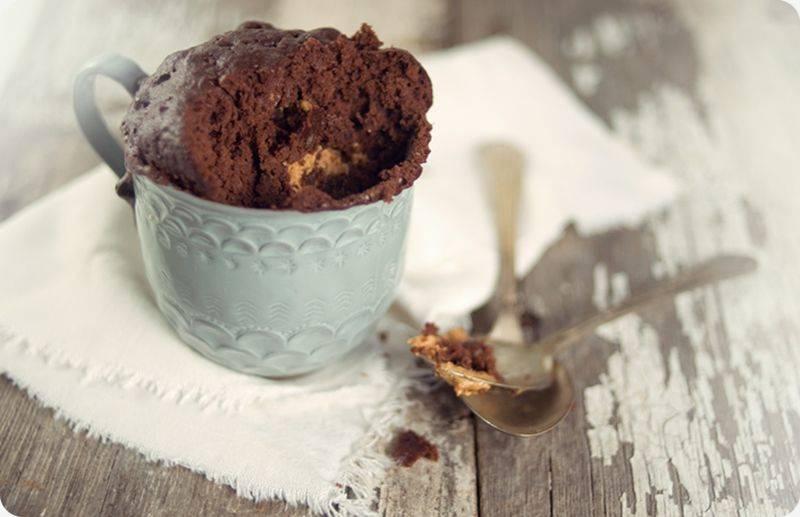 """Шоколадный кекс """"за 5 минут"""" в кружке"""