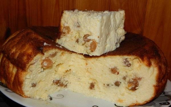 Манник на кефире в мультиварке - рецепты без муки или яиц, с изюмом, яблоками и вишней