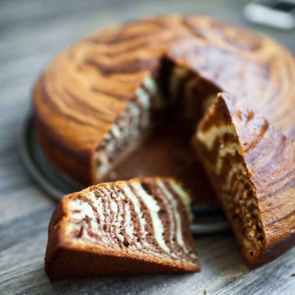 Торт «зебра» на сметане: рецепт и фото