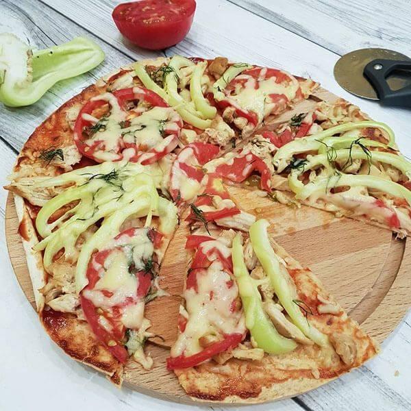 Пицца с мясным фаршем на картофеле