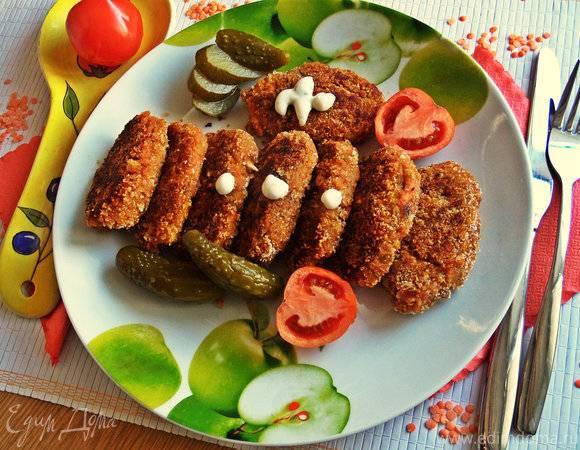 Котлеты из чечевицы просто и вкусно - рецепты с рисом, мукой, грибами и фаршем