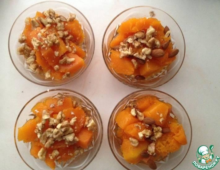 Десерт для тех, кто не любит много теста - крамбл фруктово-ореховый