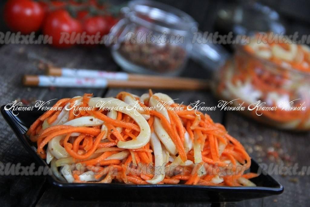 Кальмары по-корейски - самые вкусные рецепты приготовления пикантной закуски