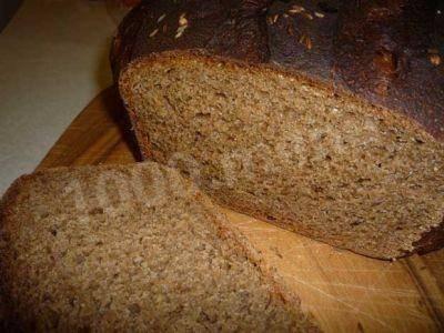Фаршированный ржаной хлеб в духовке