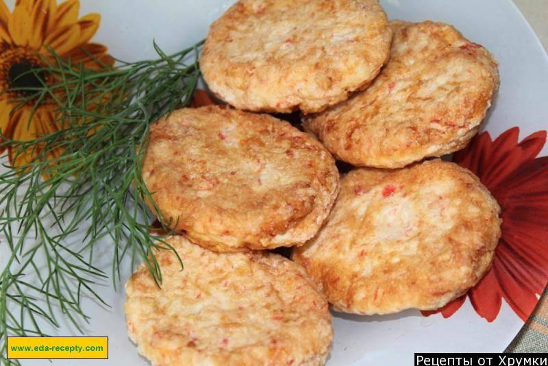 Котлеты из крабовых палочек: рецепты с фото