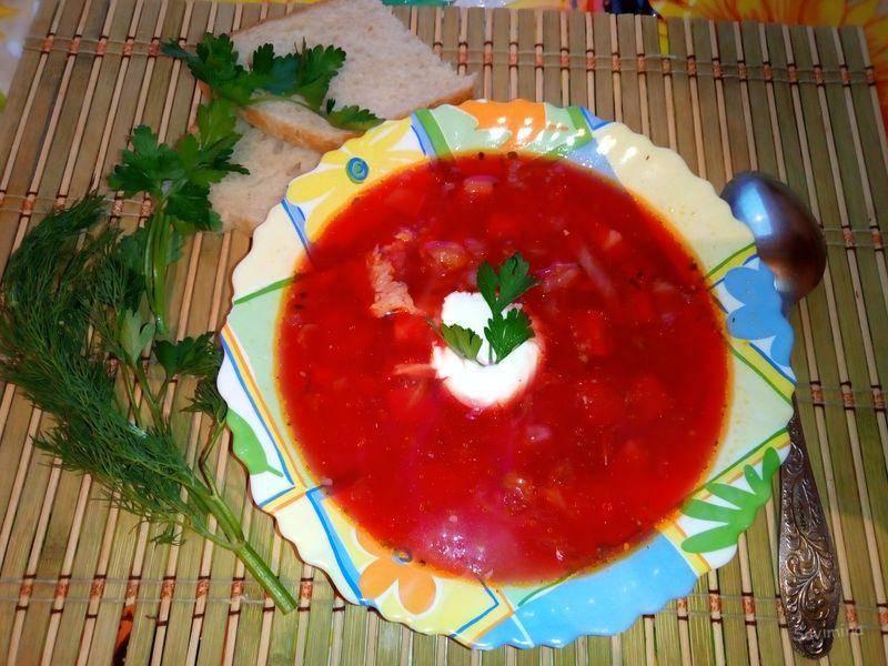 Интересный суп со свеклой за 35 минут