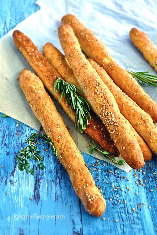 Хлебные палочки из льняной муки