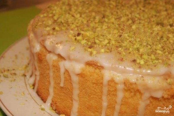 Ангельский торт с лимонным кремом