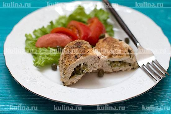 Куриная грудка, фаршированная козьим сыром