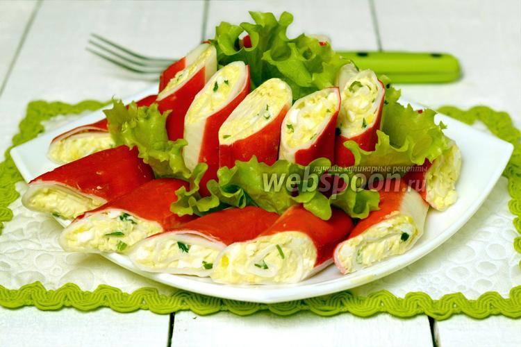 Крабовые палочки фаршированные сыром и чесноком - 7 рецептов с фото пошагово