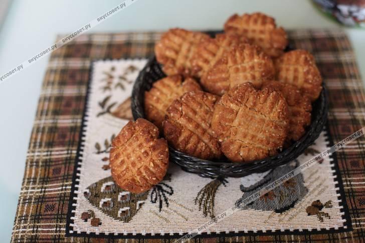 Печенье песочное арахисовое