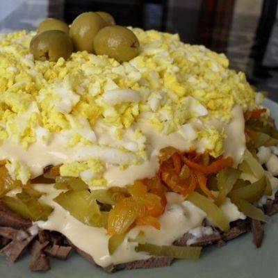 Салат с картошкой и солеными огурцами - 8 пошаговых фото в рецепте