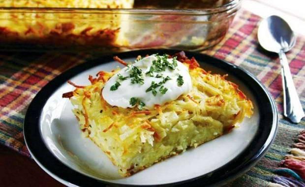 Бабка картофельная на сковороде