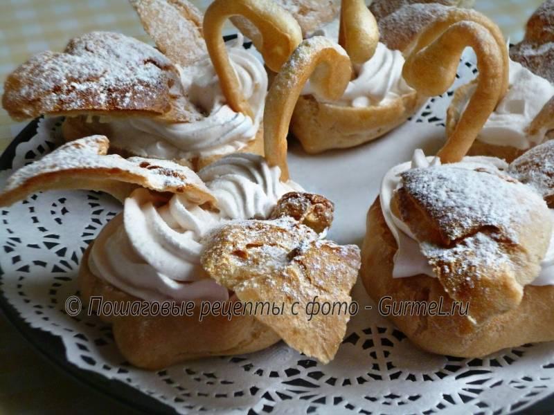 Заварные лебеди с кремом - рецепт с фотографиями - patee. рецепты