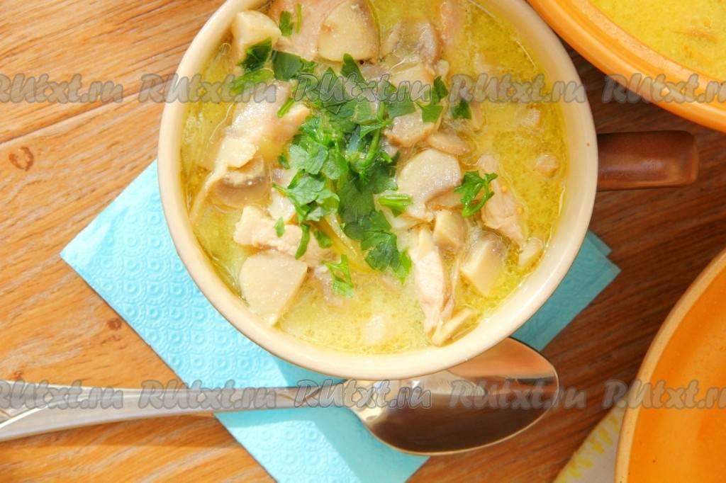 Изумительный грибной суп за 20 минут