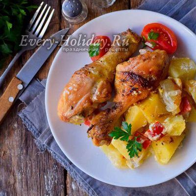 Куриные голени в яблочно-соевом маринаде