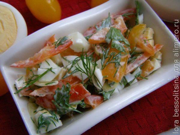5 минут, и самый безопасный для фигуры салатик красуется в тарелочке!