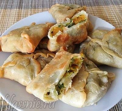 Пирог со шпинатом (простой, слоеный, постный): рецепты с фото