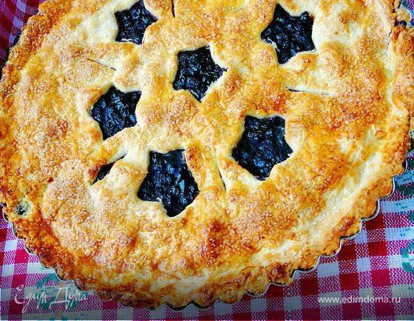 Быстрый черничный пирог