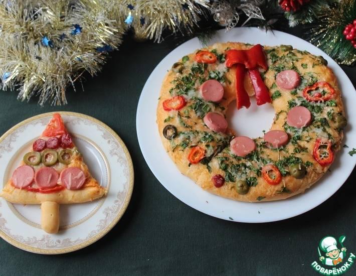 Новогодняя пицца «елочка»