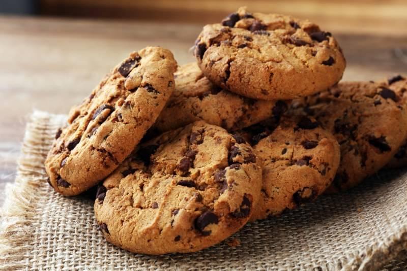 Белковое печенье с миндалём