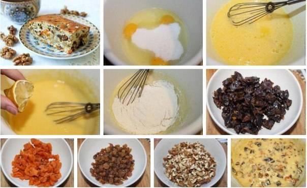 Как приготовить кекс «ореховая мазурка» с сухофруктами - рецепт, фото