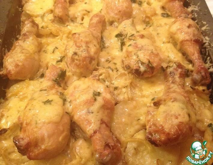 Картофель с помидором и сыром в свч