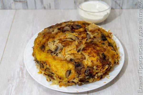 Картофельно-грибная запеканка в духовке