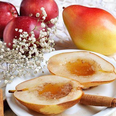 Яблочно-грушевый крамбл с карамелью | поварёшки