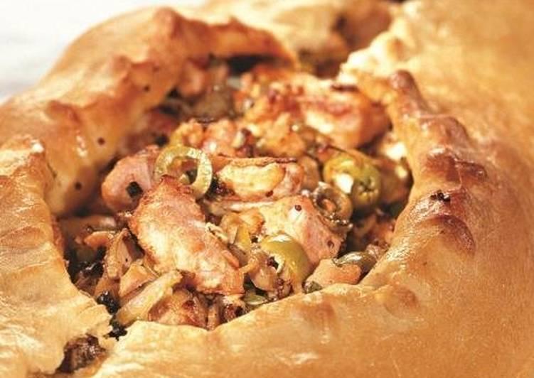 Русская кулебяка с рыбой (russian fish pie «coulibiac»)  настоящая русская кухня: рыбная кулебяка на четыре угла