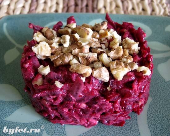 Салаты с грецкими орехами рецепты с фото