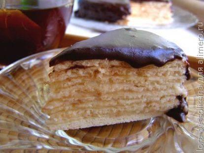 Торт со сгущенкой на сковороде - 12 пошаговых фото в рецепте