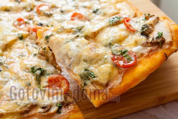 Пицца с курицей и грибами – 7 вкусных рецептов приготовления