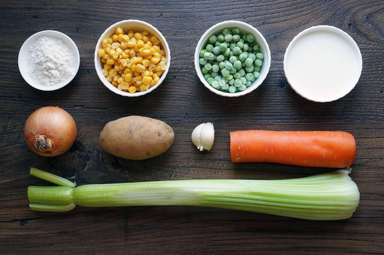 Суп кукурузный с фрикадельками