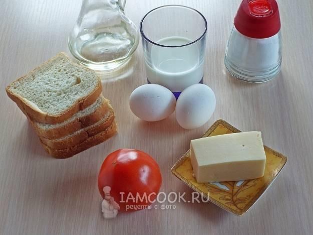 Гренки с яйцом и чесноком