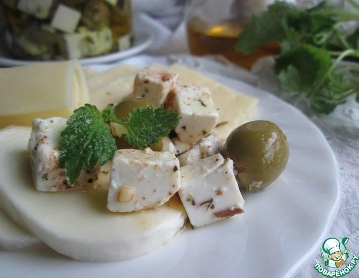 Пикантный салат с нутом и фетой