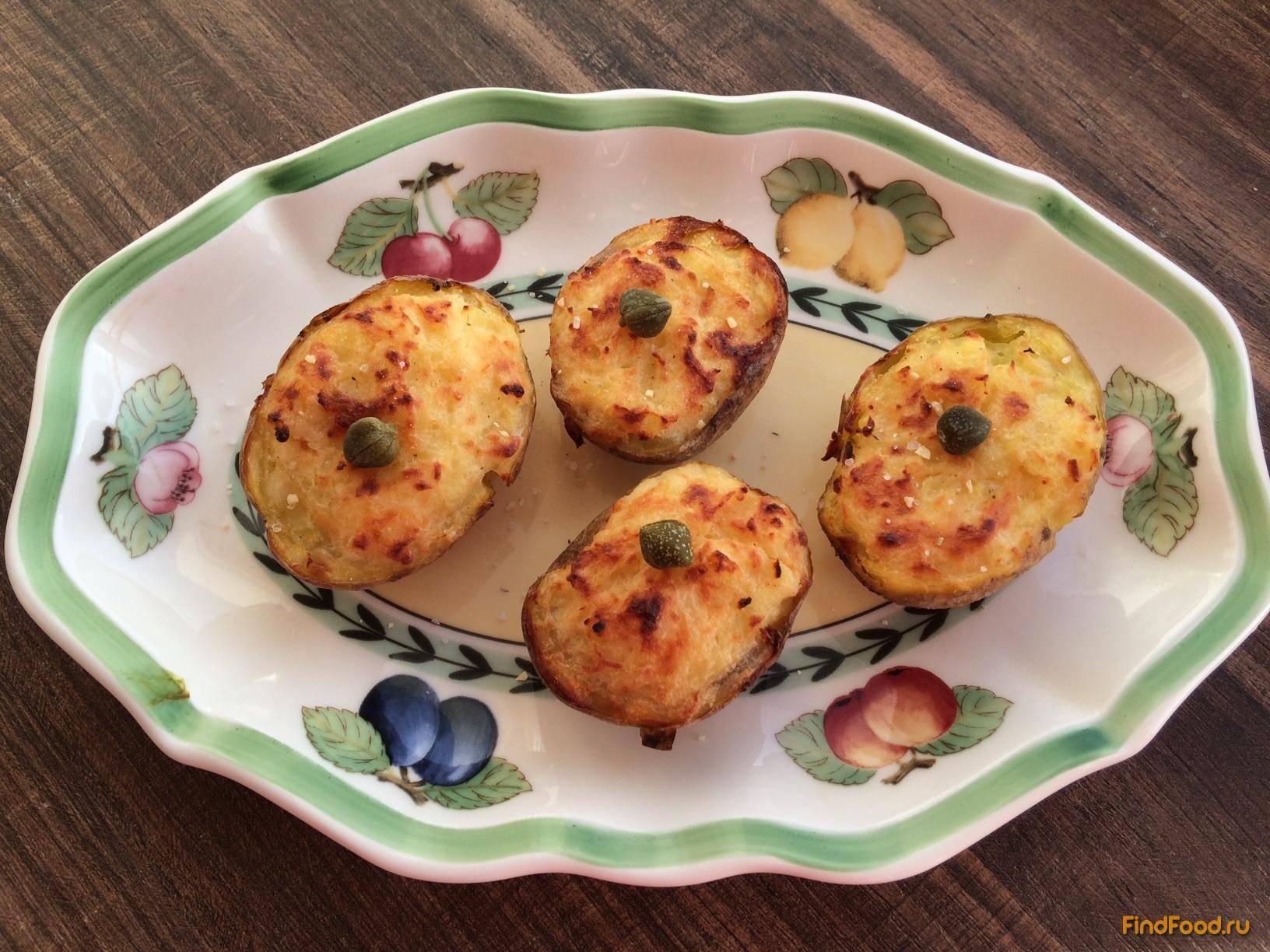 Картофельные лодочки с овощами