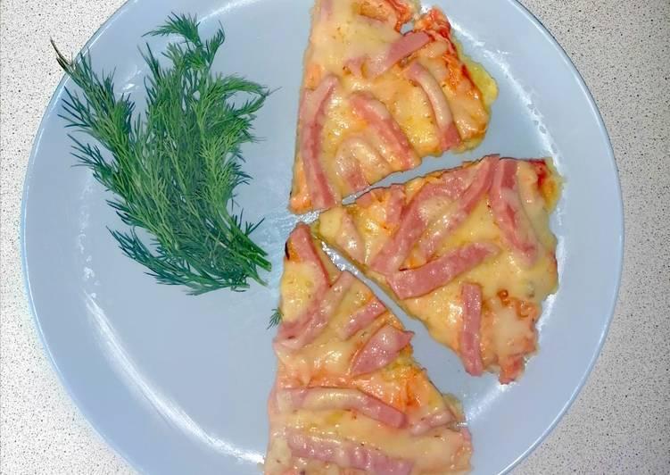 Картофельная пицца на сковороде. пошаговый рецепт с фото