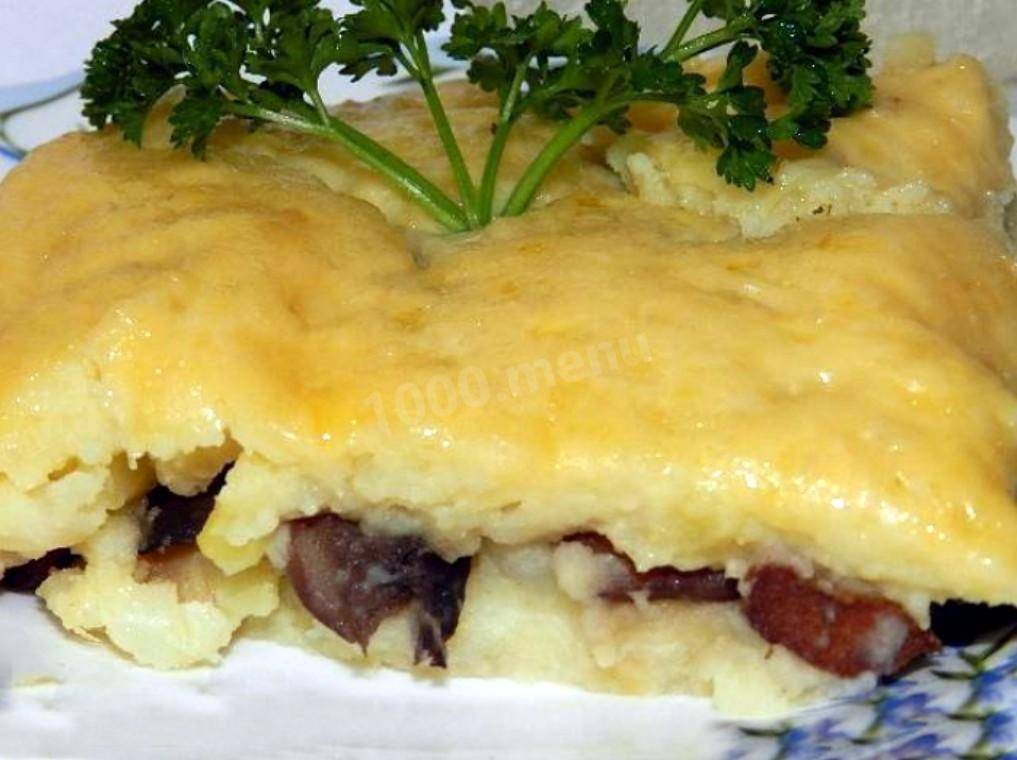 Запеканка из грибов и картофеля в духовке
